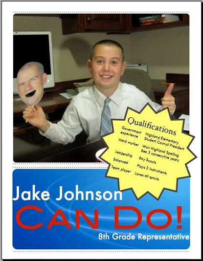 Preview of Jacob's Campaign Flyer