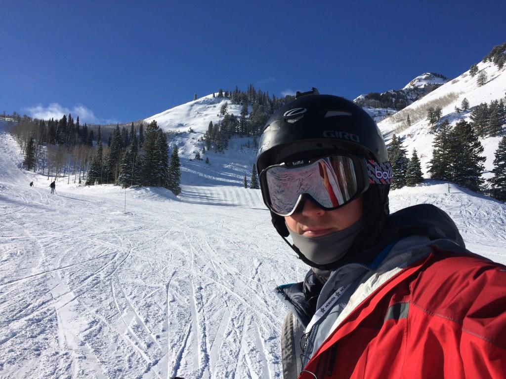 Selfie on back mountain