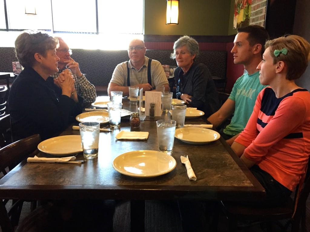 Mary, Grandpa Cryer, Dad, Mom, Jesse and Mikaela